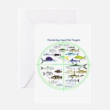 Florida Keys Fish Targets Greeting Cards