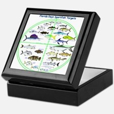 Florida Keys Fish Targets Keepsake Box