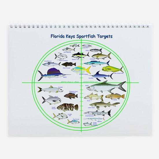 Florida Keys Fish Targets Wall Calendar