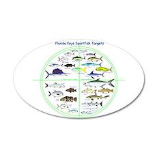 Florida Keys Fish Targets Wall Decal