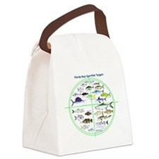Florida Keys Fish Targets Canvas Lunch Bag