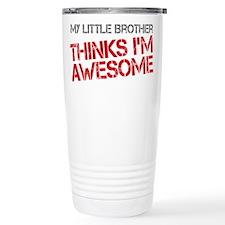 Little Brother Awesome Travel Mug