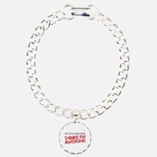 Little Brother Awesome Charm Bracelet, One Charm