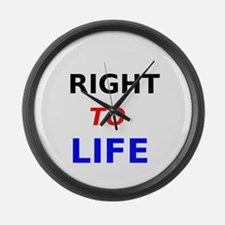 Right to Life Large Wall Clock