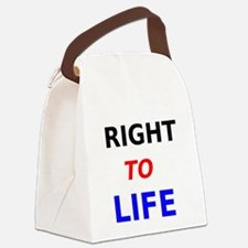 Right to Life Canvas Lunch Bag