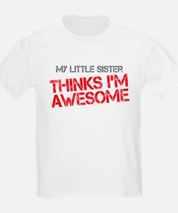 Little Sister Awesome T-Shirt