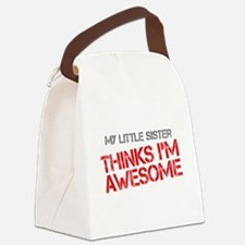 Little Sister Awesome Canvas Lunch Bag