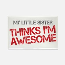 Little Sister Awesome Rectangle Magnet