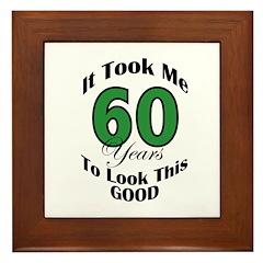 60 Years Old Framed Tile