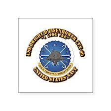 """USS Dwight D Eisenhower CVN-69 Square Sticker 3"""" x"""