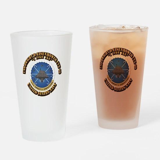 USS Dwight D Eisenhower CVN-69 Drinking Glass