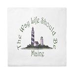 Maine State Motto Queen Duvet