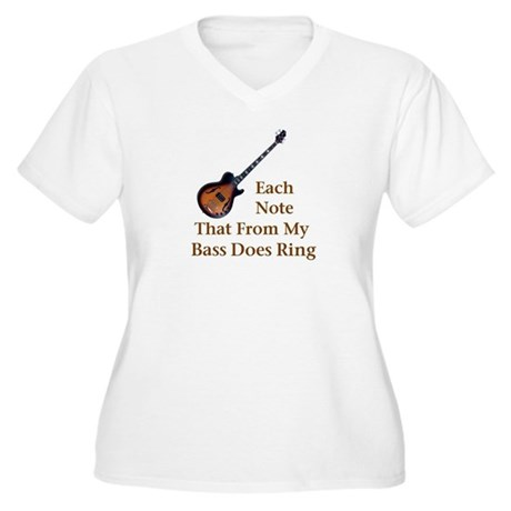 Electric Bass Women's Plus Size V-Neck T-Shirt