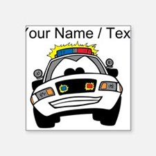 Cartoon Police Car Sticker
