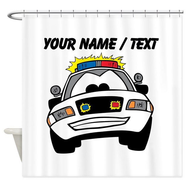 Cartoon Police Car Shower Curtain By PolicemanGifts