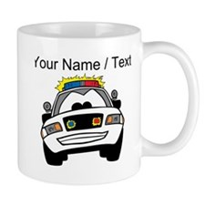 Cartoon Police Car Mugs