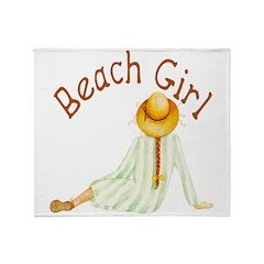 Beach Girl Throw Blanket