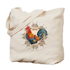 Vintage Rooster, French Advertising Label Tote Bag