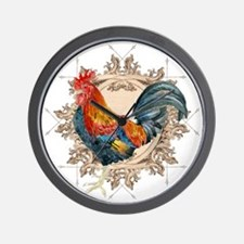 Vintage Rooster, French Advertising Lab Wall Clock
