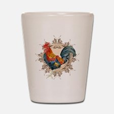 Vintage Rooster, French Advertising Lab Shot Glass