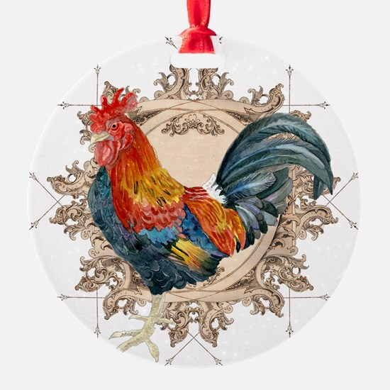 Vintage Rooster, French Advertising Ornament