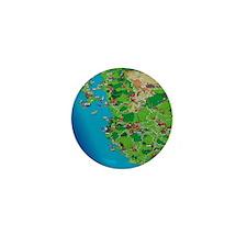 Western Mexico Cartoon Travel Map Mini Button