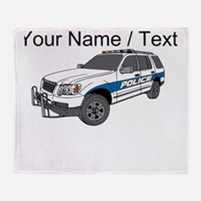 Police SUV Throw Blanket