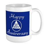 Aa sobriety 25 years Large Mugs (15 oz)