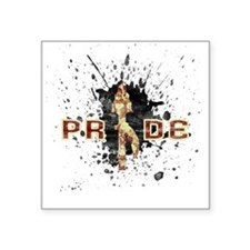 "Nole Pride Square Sticker 3"" x 3"""
