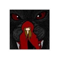 """Little Red Riding Hood Square Sticker 3"""" x 3"""""""