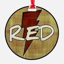 Red Lightning Ornament