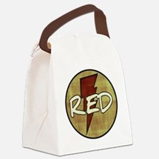 Red Lightning Canvas Lunch Bag