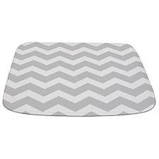 Light Grey Chevron Bathmat