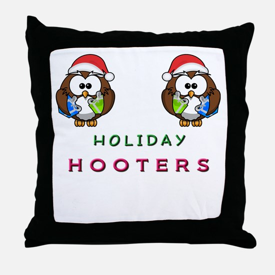 Holiday Hooters Throw Pillow