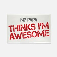 Papa Awesome Rectangle Magnet