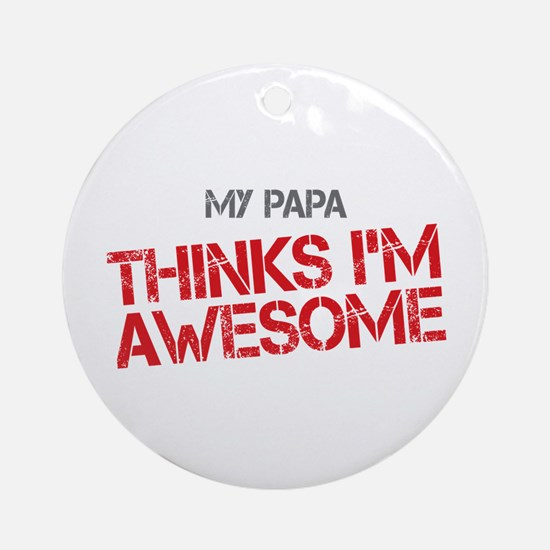 Papa Awesome Ornament (Round)