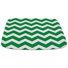 Dark Green Chevron Bathmat