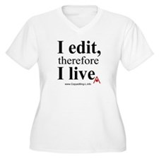 """I edit"" CE-Lery women's plus V-neck T"