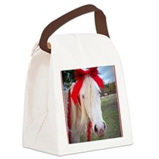 Tinsel In A Tangle Canvas Lunch Bag