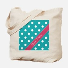 Personalized Name Polka Dots Tote Bag