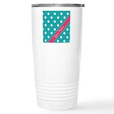 Personalized Name Polka Dots Travel Mug