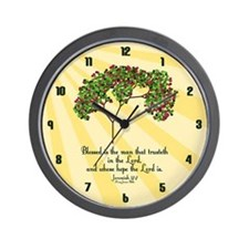 Jeremiah 17 7 Bible Verse Wall Clock