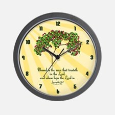 Jeremiah 17 7 Bible Verse Wall Clock
