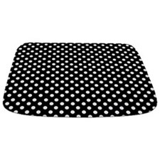 Black And White Polka Dot Bathmat