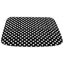 Black And White Polka Dot Bathmat