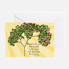 Jeremiah 17 7 Bible Verse Greeting Card