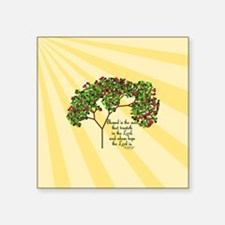 "Jeremiah 17 7 Bible Verse Square Sticker 3"" x 3"""