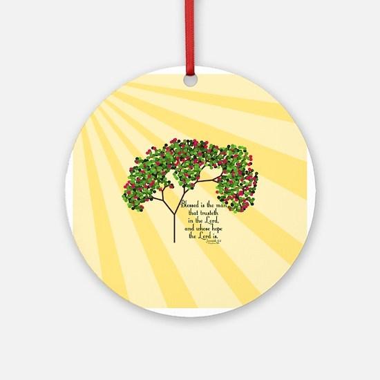 Jeremiah 17 7 Bible Verse Ornament (Round)