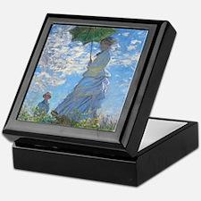 Woman with a Parasol by Claude Monet Keepsake Box