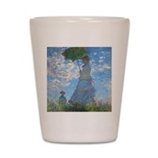 Woman with a Parasol by Claude Monet Shot Glass